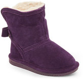 BearPaw Toddler Girls) Deep Purple Harper Bow-Accent Boots