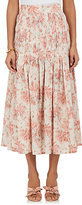 Brock Collection Women's Smocked Floral Cotton Voile Skirt