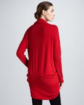 Donna Karan Mid-Weight Cashmere Cocoon Jacket, Red