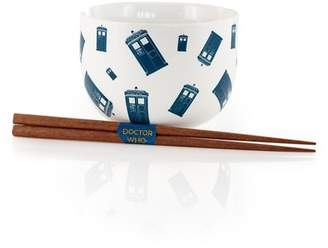 Doctor Who Seven20 TARDIS Noodle Bowl & Chopsticks Set | Collectible Dish