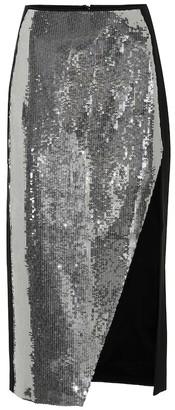 David Koma Sequined midi skirt