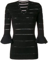 Versace panelled v-neck sweater - women - Polyester/Viscose - 40