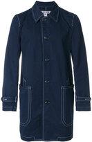 Comme des Garcons contrast stitch buttoned coat
