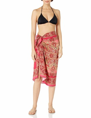 Sauvage Women's Cream Gypsy Print Viscose Sarong