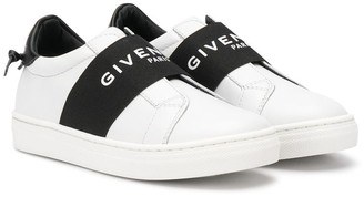 Givenchy Kids elasticated logo-band sneakers