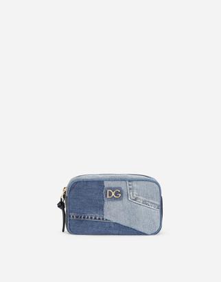 Dolce & Gabbana Denim Patchwork Belt Bag