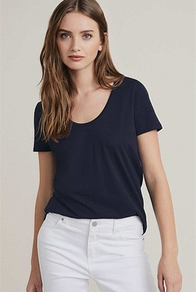 Witchery Cotton Scoop Tee