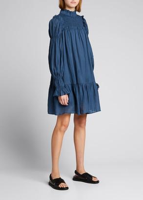 Sea Hattie Ramie Long-Sleeve Tunic Dress