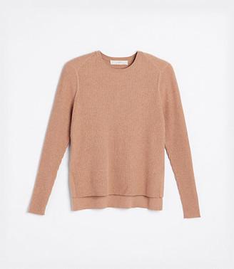 LOFT Ribbed Hi-Lo Sweater