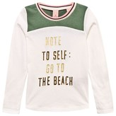 Scotch R'Belle Green and Off White Beach Tee