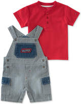 Tommy Hilfiger 2-Pc. Henley T-Shirt & Overall Set, Baby Boys
