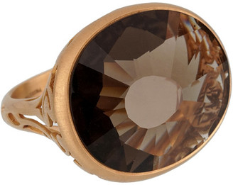 Pomellato 18K 14.701 Grams Rose Gold 10.18 Ct. Tw. Smoky Quartz Cocktail Ring