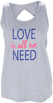 L.A. Gear Heather Gray 'Love is All We Need' Cutout Tank