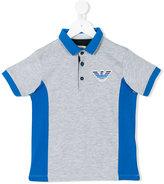 Armani Junior logo print polo shirt - kids - Cotton - 10 yrs