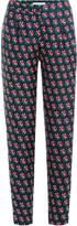 Diane von Furstenberg Floral Print Silk Pants