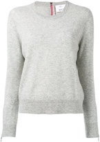 Allude zipped cuffs jumper