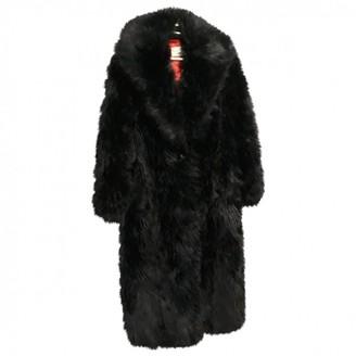 Paco Rabanne Black Faux fur Coats