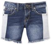 Vigoss Girls 7-16) Frayed Stripe Bermuda Denim Shorts