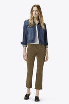 J Brand Selena Mid-Rise Crop Boot Cut in Distressed Sand Dunes