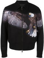 Neil Barrett spread eagle bomber jacket