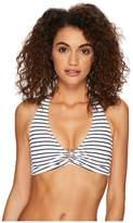 Lauren Ralph Lauren City Stripe Ring Halter Top Women's Swimwear