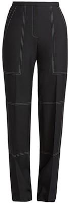 Nina Ricci Straight-Leg Wool & Silk Stitch Trousers
