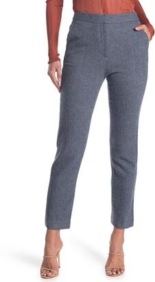 Rag & Bone Layla Herringbone High Waist Wool Blend Pants