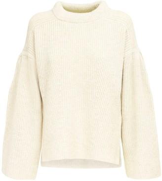 LOULOU STUDIO Gargalo Cashmere Blend Knit Sweater