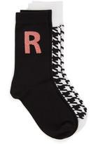 Nordstrom Initial 2-Pack Crew Socks (Women)