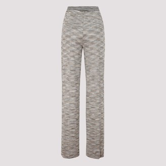Missoni High-Waisted Striped Trousers