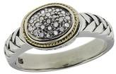 Effy Jewelry Effy 925 S. Silver & 18K Gold Diamond Ring, .11 TCW
