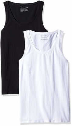 Pact Women's Stretch-Fit Tank Top Scoop Neckline | Made with Organic Cotton | 2-Pack Black/White