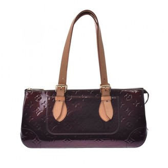 Louis Vuitton Rosewood Burgundy Leather Handbags