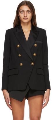 Balmain Black Wool Crepe 6-Button Blazer