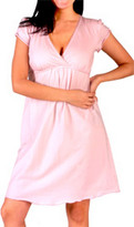 Mimi Maternity Short Sleeve V-Neck Nursing Nightgown