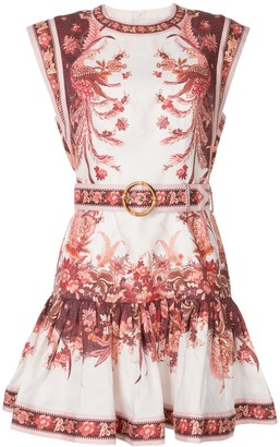 Zimmermann Floral Printed Mini Dress