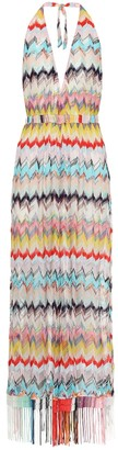 Missoni Mare Chevron halter-neck dress