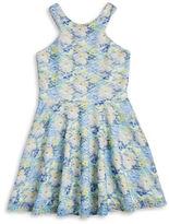 Sally Miller Girls 7-16 Girls Textured Floral Dress