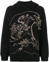Bellerose wave embroidered hoodie