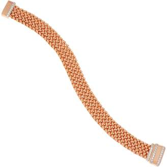 Diamonique Italian Silver Woven Bracelet, 17.2g