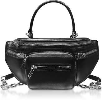 Alexander Wang Black Grained Calf Leather Attica Soft Mini Top Handle Bag