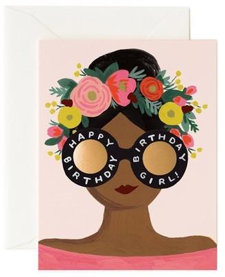 Rifle Paper Co. Birthday Card Flower Crown Birthday Girl