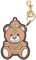 Moschino crowned teddy bear keyring - women - Leather - One Size