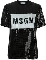 MSGM sequined T-shirt - women - Polyester/Polyimide - 44