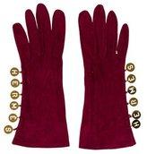 Hermes Suede Logo Gloves