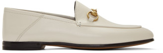 Gucci White Brixton Loafers