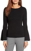 Petite Women's Halogen Flare Sleeve Sweater