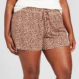 Gilligan & O'Malley Women's Plus Size Pajama Shorts Total Comfort Animal Print