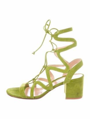 Gianvito Rossi Suede Gladiator Sandals Green