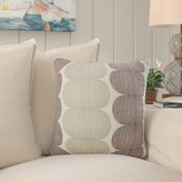 """Sophronia Graphic Throw Pillow Cover Bay Isle Home Size: 18"""" x 18"""", Color: Kiwi"""